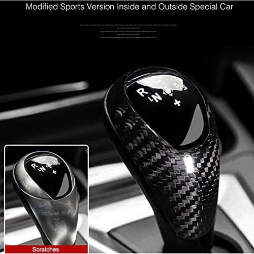 AIRSPEED Real Carbon Fiber Car Gear Shift Lever Knob Cover Sticker for Audi Audi A3 S3 Accessories