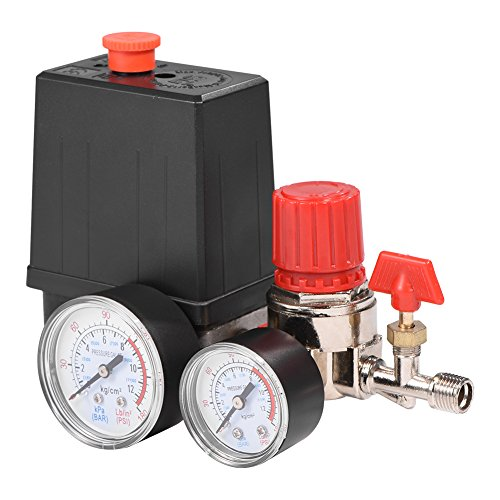 Air Compressor Pressure Valve Switch Control Regulator with Gauges for Fast Pressure Reduction