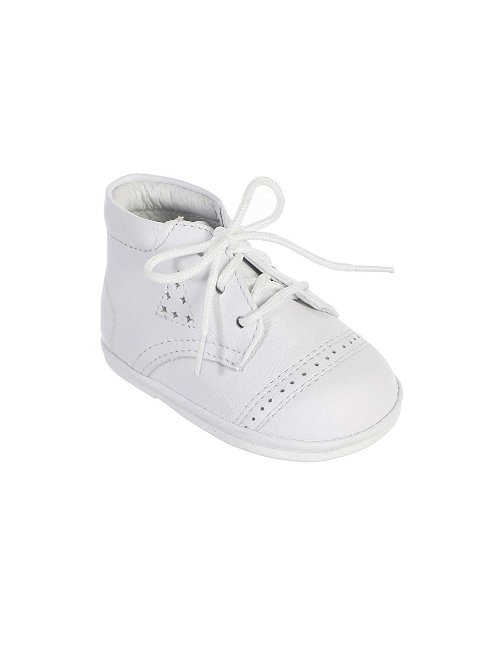 Many Styles! Avery Hill Boys Leather High Top Lace-Up Baptism Special Occasion Shoes