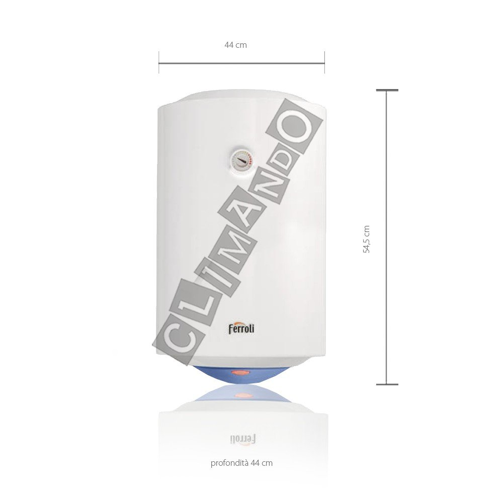Ferroli Calypso - Calentador de agua eléctrico vertical, 80 litros: Amazon.es: Bricolaje y herramientas