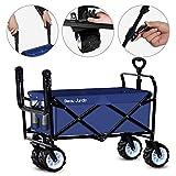 BEAU JARDIN Folding Push Wagon Cart 300 Pound