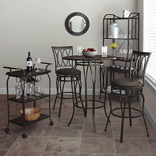 Better Homes And Gardens Kitchen Cart With Wine Rack Furniture Carts Islands Dining Carts