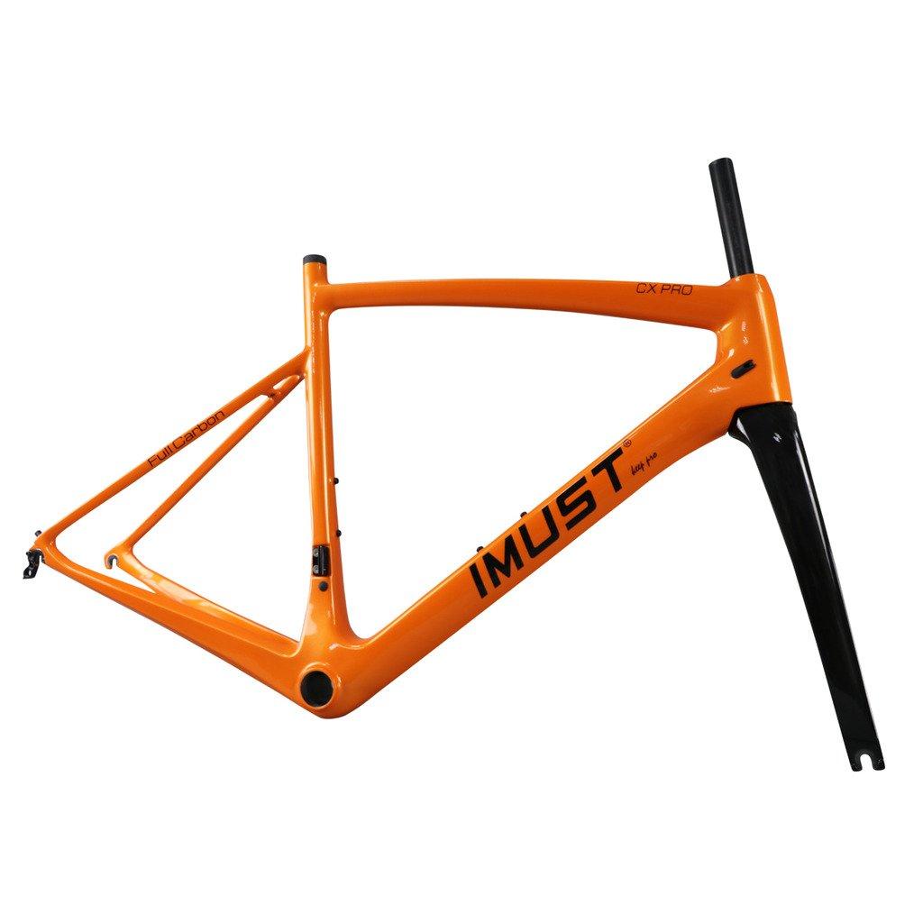 IMUST BB86 UD Fahrradrahmen, Karbonfaser, leicht, matt, Orange, 51 ...
