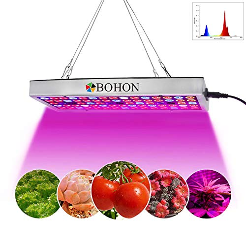 BOHON LED Grow Light, Full Spectrum Panel Grow Lamp with IR UV LED Grow Lights for Indoor Plants, Seedling, Vegetative and ()