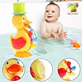 Elite Enfant Large Yellow Duck Spinning Water Wheel Learning Bath Toy for Baby/Toddler/Kids All Ages - Free Bonus Gift : 1 Pour Bucket Rinse Cup Reviews