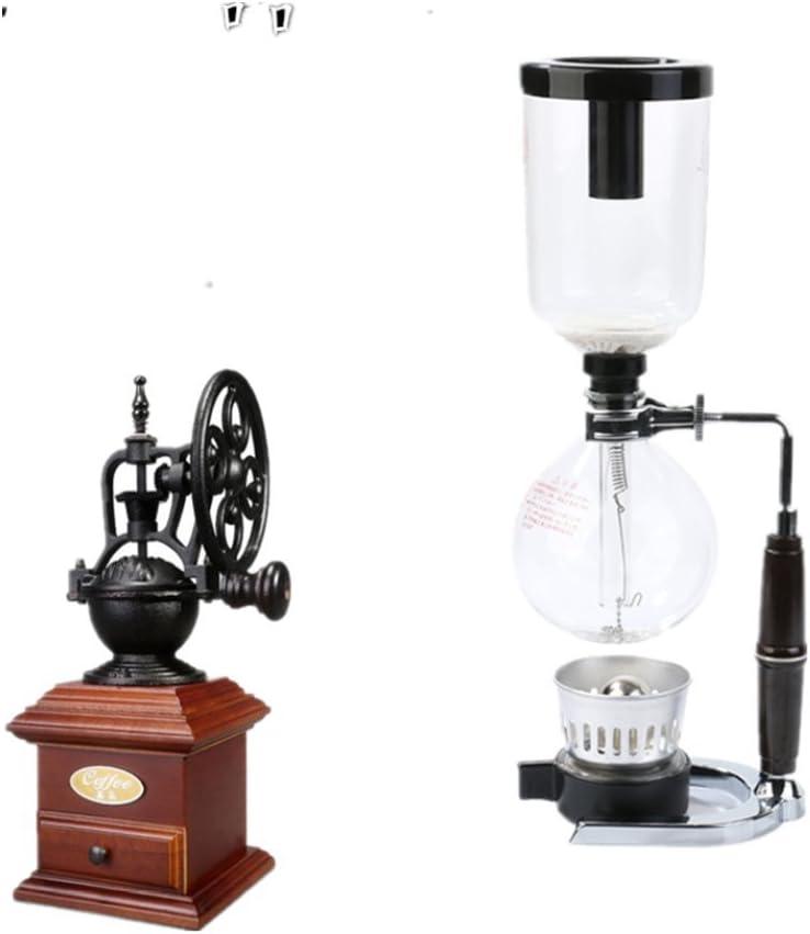 Sifón cafetera manual cafetera siphon es minimalista y elegante hogar kit, una cafetera de vidrio: Amazon.es: Hogar