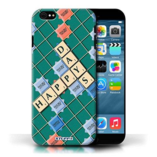 Kobalt® Imprimé Etui / Coque pour Apple iPhone 6/6S / Jours Heureux conception / Série Mots de Scrabble
