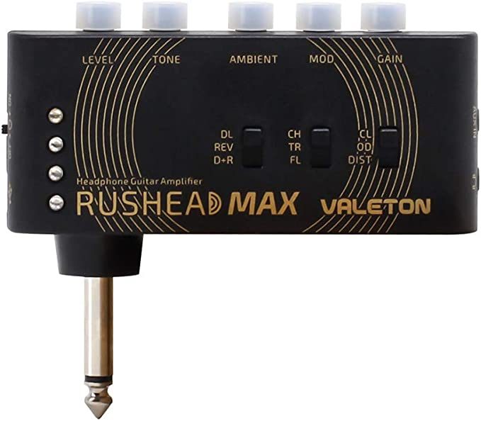 Valeton Rushead Max USB Chargable Portable Pocket Guitar Bass Headphone Amp Carry-On Bedroom Plug-In Multi-Effects: Amazon.co.uk: Musical Instruments
