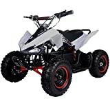 kids atv - FamilyGoKarts Sport 500W Kids Electric ATV Quad w/3 speed settings plus reverse! (White/Red)