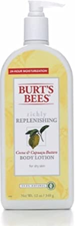 Burt s Bees Richly Replenishing Body Lotion, Cocoa Cupuacu Butters 12 oz Pack of 2