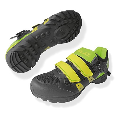 XLC scarpe all mtb- cb-m10 verde/nero/giallo 38 (Scarpe Mtb) / shoes all mtb- cb-m10 green/black/yellow 38 (Mtb Shoes)