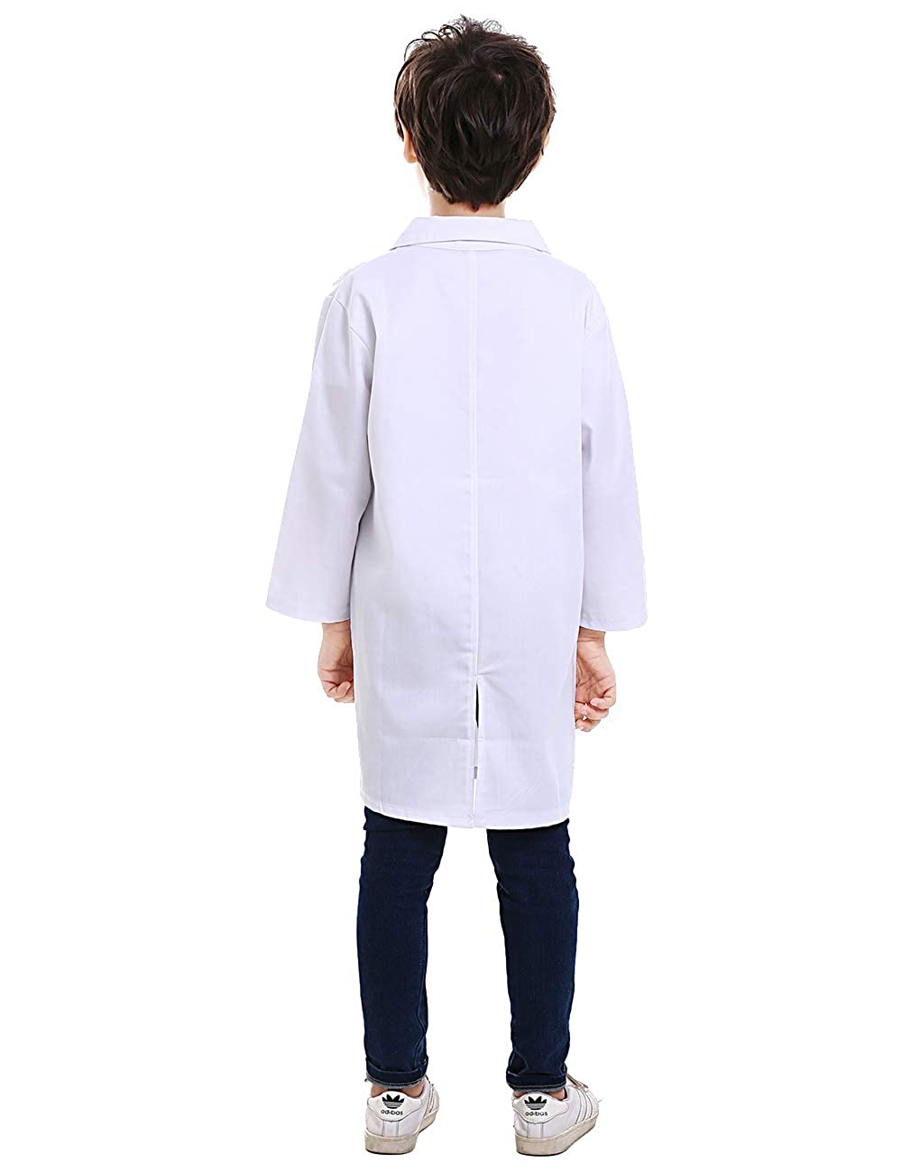 TOPTIE Kids Scrubs White Lab Coats for Scientists or Doctors