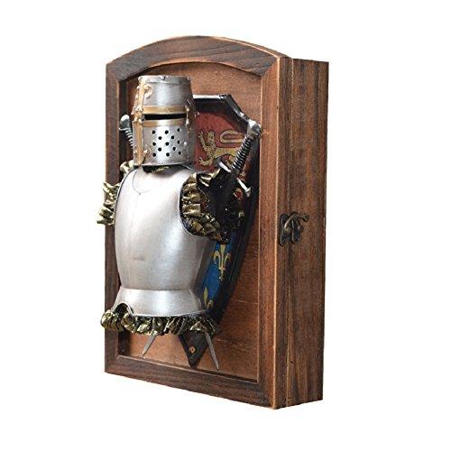 home-organizer Tech decorativa de madera Wall Mount Key Box–Armario de llaves con 6ganchos–pared decoración...