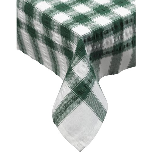 (Seersucker Square Checked Tablecloth Cotton Check Downview Table Linen 36