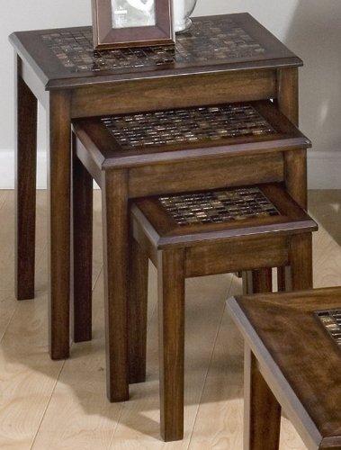 Jofran 3-Pc Nesting Table Set & Amazon.com: Jofran 3-Pc Nesting Table Set: Kitchen \u0026 Dining