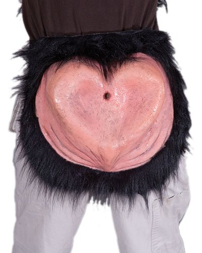 Zagone Baboon Butt,  Latex Rear End Worn with Your Own Belt]()