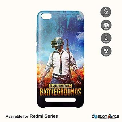 newest ca636 640d0 Custom Arts Blue PUBG Mobile Hard Back case for Mi: Amazon.in ...