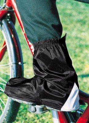 Hock Schuhzubehör Fahrradgamaschen Gamas (Ausführung: schwarz Gr. 45-47 für SPD-Schuhe)