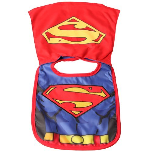 Superman Unisex-baby Bib with Cape (Superman Baby Costumes)