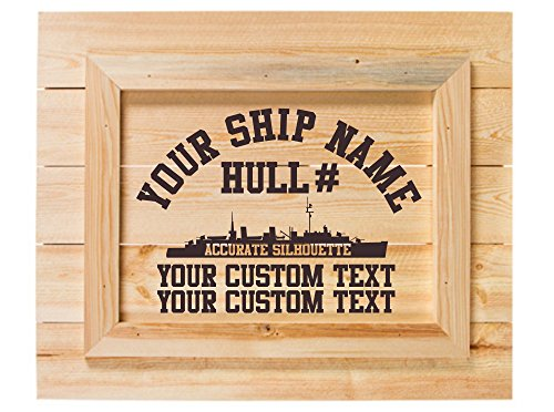 USS MARVIN SHIELDS DE-1066 Custom Laser Etched Wall Art (Shields Uss Marvin)