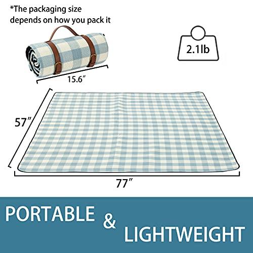 Fretime Portable Large Outdoor Picnic Blanket 57
