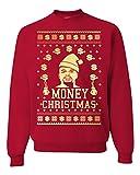 Floyd Mayweather Money Christmas Ugly christmas Sweater Unisex Sweatshirt (L, Red)