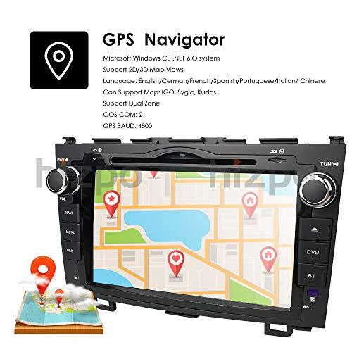 8 Inch for Honda CRV CR-V 2007 2008 2009 2010 2011 in Dash HD Touch Screen  Car DVD Player GPS Navigation Stereo Bluetooth/SD/USB/RDS/FM/AM