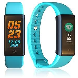 Indigi Color Screen Bluetooth Smart Bracelet Watch Heart Rate Monitor Fitness Tracker [Green]
