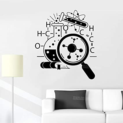 Science Chemistry Vinyl Wall Stickers Lab Decor Removable ...