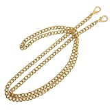 ONBLUE #NL-G 47in Purse Replacement Chain Gold Plating Tone 8MM Metal Chain for Clutch Wallet Shoulder Crossbody Bag Light Gold by ONBLUE