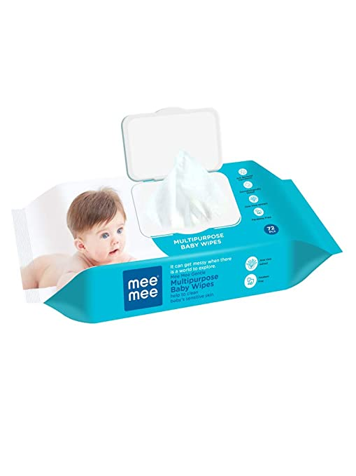 Mee Mee Baby Wipes  Gentle Multipurpose, 72 Pieces  Single Pack