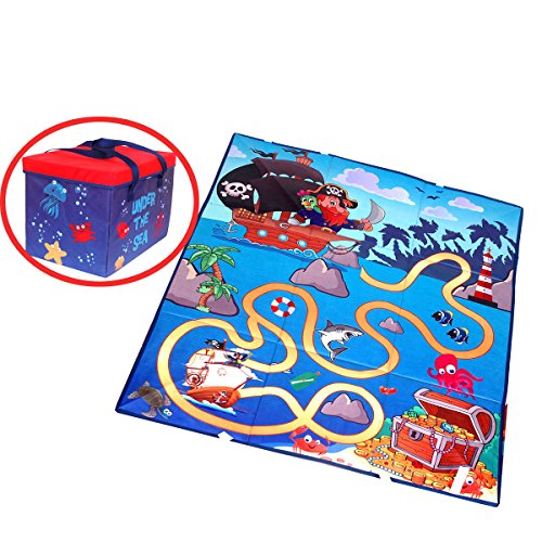 Kids Toy Storage Ground Mat Box Collapsible Toy Chests Storage Organizer with Kids Play Mat for Kids Toys Books (5 Elements Of A Story Graphic Organizer)