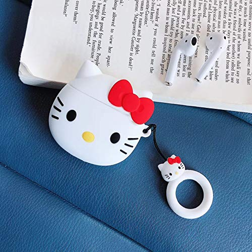 AKXOMY AirPods Case,Airpods case Kitty, Super Cute kt Creative Food Drink Shape TPU Silicone Cover Protective Skin for Apple AirPods 1&2 (KT)