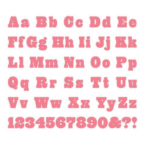 We R Memory Keepers Cookie Cutter Die Set, Carousel Complete Alphabet (Revolution Die Alphabet)