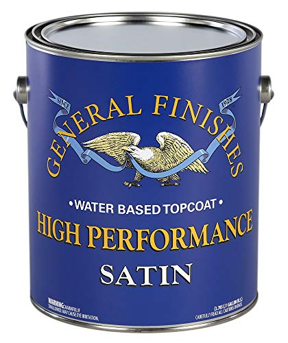 General Finishes High Performance Water Based Topcoat, 1 gallon, Satin from General Finishes