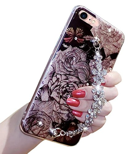 For iPhone7 Plus / iPhone8 Plus Case, Omio Shiny Diamond Flo