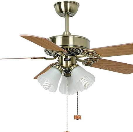 Luz del ventilador de techo Restaurante 108 cm Ventilador de Techo luz de Ventilador luz de Ventilador luz de Hoja de Madera lámpara de Ventilador: Amazon.es: Hogar