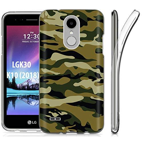 ([Mobiflare] LG K30 [K10 2018] Premier Pro/Phoenix Plus [K30 X410|Premier Pro L413DL|Phoenix Plus ] Ultraflex Thin Gel Phone Cover [Army Camo Green Tan Print])