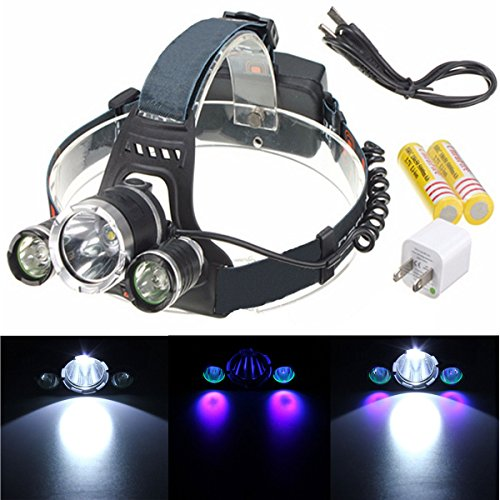 OUTERDO Headlight Flashlight Waterproof Rechargeable