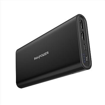 Cargador portátil RAVPower USB C de 26.800 mAh 26800mAh ...