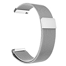 Gear S3 Watch Band, Fintie [Unique Magnet Lock] Milanese Loop Adjustable Stainless Steel Replacement Bracelet Wristband Strap for Samsung Gear S3 Classic / S3 Frontier Smart Watch - Silver