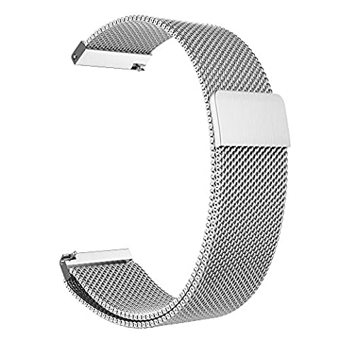Gear S3 Frontier / Classic Watch Band, Fintie 22mm Milanese Loop Adjustable Stainless Steel Replacement Strap Bands for Samsung Gear S3 Classic / S3 Frontier Smart Watch - (22mm Mesh Watchband)