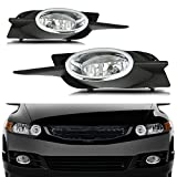 09 civic 2dr fog lights - CCIYU Clear Lens Replacement Fog Lights Front Bumper Lamps For 2009-2011 Honda Civic 2DR