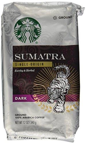 Starbucks Ground Coffee Dark Sumatra Net Wt 12 oz(340g)