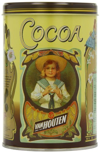 Van Houten The Original Cocoa in Vintage Tin 17.6oz (500g)