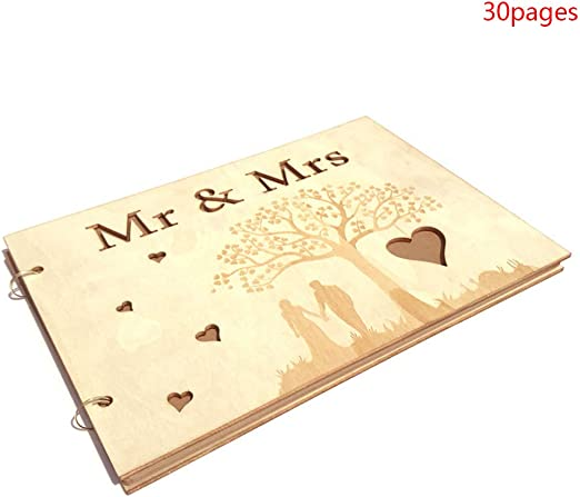 Personalised Mr /& Mr Wedding Photo Album Scrapbook//Memory Gift With Box