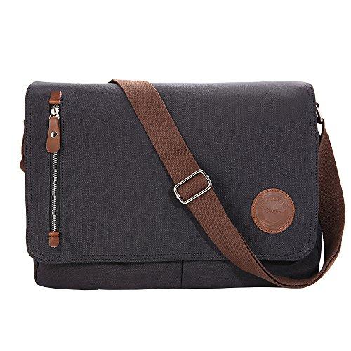 Gibgas 15.6 Inch Vintage Canvas Messenger Bag Laptop Shoulde