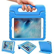 LEFON Kids iPad Mini 4 Case ShockProof Convertible Handle Light Weight Super Protective Stand Cover Case for Apple iPad Mini 4 Tablet 2015 Released (Blue)