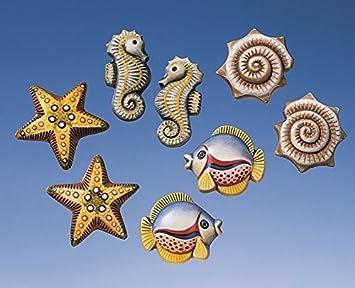 Relieve formas/moldes de fundición sin colada/yeso figuras de peces Maritim caballito de mar: Amazon.es: Juguetes y juegos
