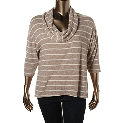 (Style & Co. New Truffle Plus Size Metallic Striped Cowl-Neck Sweater 2X $52.5)